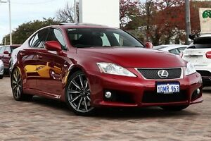 2009 Lexus IS F USE20R MY10 Red 8 Speed Sports Automatic Sedan Osborne Park Stirling Area Preview