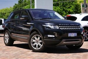 2011 Land Rover Range Rover Evoque L538 MY12 Si4 CommandShift Pure Black 6 Speed Sports Automatic Osborne Park Stirling Area Preview