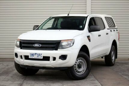2012 Ford Ranger PX XL Double Cab White 6 Speed Sports Automatic Utility