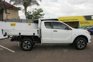 2014 Mazda BT-50 UP0YF1 XT Freestyle 4x2 Hi-Rider Cool White 6 Speed Manual Cab Chassis Chermside Brisbane North East Preview