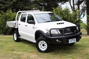 2013 Toyota Hilux KUN26R MY12 SR (4x4) White 4 Speed Automatic Dual Cab Pick-up Beaconsfield Cardinia Area Preview