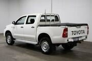 2014 Toyota Hilux KUN26R MY14 SR Double Cab White 5 Speed Manual Cab Chassis Welshpool Canning Area Preview