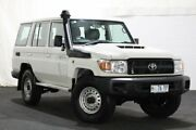2018 Toyota Landcruiser VDJ76R Workmate White 5 Speed Manual Wagon Glenorchy Glenorchy Area Preview