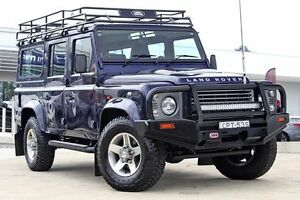 2013 Land Rover Defender 110 13MY Blue 6 Speed Manual Wagon Baulkham Hills The Hills District Preview