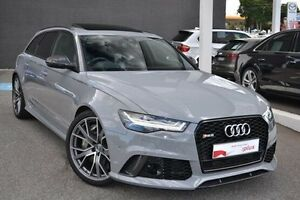 2016 Audi RS6 4G MY16 performance Avant Tiptronic quattro Grey 8 Speed Sports Automatic Wagon Burwood Whitehorse Area Preview