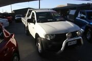 2010 Mitsubishi Triton MN MY10 GL White 5 Speed Manual Cab Chassis Mitchell Gungahlin Area Preview