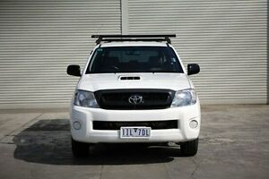 2010 Toyota Hilux KUN16R MY10 SR White 5 Speed Manual Utility Seaford Frankston Area Preview