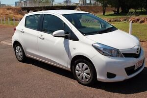 2014 Toyota Yaris NCP130R YR Glacier White 4 Speed Automatic Hatchback The Gardens Darwin City Preview
