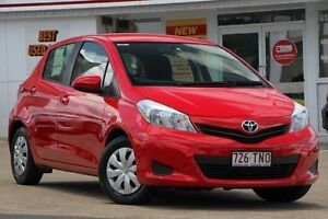 2013 Toyota Yaris NCP130R YR Red 4 Speed Automatic Hatchback Woolloongabba Brisbane South West Preview