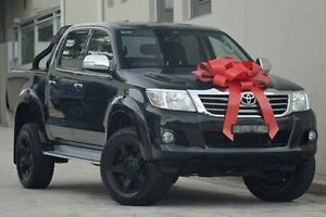 2013 Toyota Hilux KUN26R MY12 SR5 Double Cab Black 4 Speed Automatic Utility Thornleigh Hornsby Area Preview