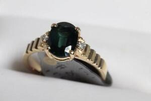 NEW 14K. ITALIAN GOLD & SAPPHIRE- DIAMOND LADY'S RING FOR SALE