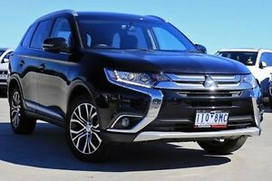 2015 Mitsubishi Outlander ZK MY16 LS 4WD Black 6 Speed Constant Variable Wagon Nunawading Whitehorse Area Preview