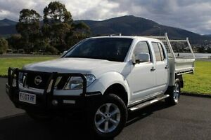2013 Nissan Navara D40 S6 MY12 ST White 6 Speed Manual Utility Invermay Launceston Area Preview