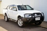 2015 Mitsubishi Triton MN MY15 GLX-R Double Cab White 5 Speed Sports Automatic Utility Port Adelaide Port Adelaide Area Preview