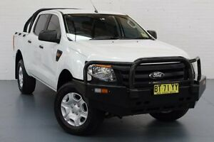 2013 Ford Ranger PX XL Double Cab 4x2 Hi-Rider White 6 Speed Sports Automatic Cab Chassis Glendale Lake Macquarie Area Preview