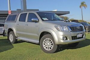 2014 Toyota Hilux KUN26R MY14 SR5 Xtra Cab Silver 5 Speed Manual Utility Pearsall Wanneroo Area Preview