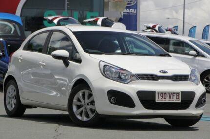 2014 Kia Rio UB MY15 S-Premium White 4 Speed Sports Automatic Hatchback