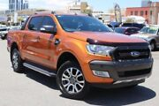 2016 Ford Ranger PX MkII Wildtrak 3.2 (4x4) Orange 6 Speed Automatic Dual Cab Pick-up Northbridge Perth City Area Preview