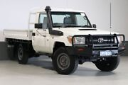 2016 Toyota Landcruiser VDJ79R MY12 Update Workmate (4x4) White 5 Speed Manual Cab Chassis Bentley Canning Area Preview