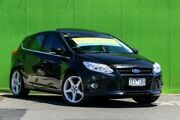 2012 Ford Focus LW Titanium PwrShift Black 6 Speed Sports Automatic Dual Clutch Hatchback Ringwood East Maroondah Area Preview