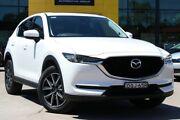 2017 Mazda CX-5 KE1022 Grand Touring SKYACTIV-Drive i-ACTIV AWD White 6 Speed Sports Automatic Wagon Haberfield Ashfield Area Preview
