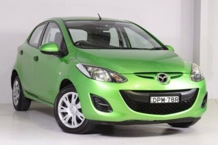 2010 Mazda 2 DE10Y1 MY10 Neo Green 5 Speed Manual Hatchback Wadalba Wyong Area Preview