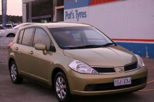 2007 Nissan Tiida C11 ST Yellow 4 Speed Automatic Hatchback