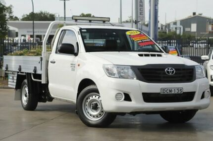 2014 Toyota Hilux KUN16R MY14 Workmate 4x2 White 5 Speed Manual Cab Chassis Penrith Penrith Area Preview