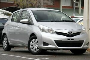 2013 Toyota Yaris NCP130R YR Silver Pearl 5 Speed Manual Hatchback Christies Beach Morphett Vale Area Preview