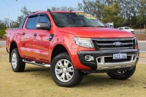 2014 Ford Ranger PX Wildtrak Double Cab Orange 6 Speed Sports Automatic Utility Mindarie Wanneroo Area Preview