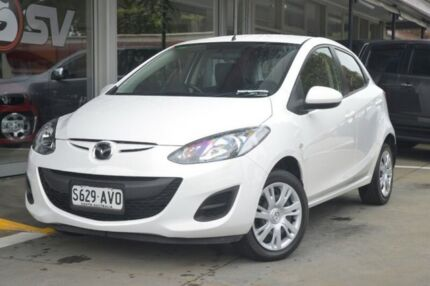 2013 Mazda 2 DE10Y2 MY13 Neo White 4 Speed Automatic Hatchback Somerton Park Holdfast Bay Preview