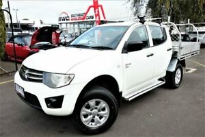 2009 Mitsubishi Triton MN MY10 GL-R Double Cab White 4 Speed Automatic Utility Seaford Frankston Area Preview