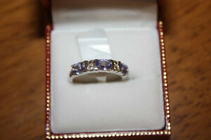 Tanzanite 1 carat Ring Sterling Silver, Appraised, 75% off