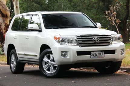 2014 Toyota Landcruiser VDJ200R MY13 Sahara White 6 Speed Sports Automatic Wagon Hawthorn Mitcham Area Preview