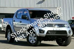 2014 Mitsubishi Triton MN MY15 GLX Double Cab Silver 4 Speed Sports Automatic Utility Gympie Gympie Area Preview