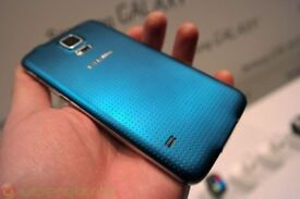 Samsung S5 G900F Blue Unlocked with usb and charger