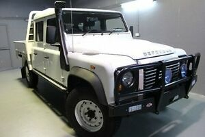 2015 Land Rover Defender 130 15MY Crew Cab White 6 Speed Manual Cab Chassis Invermay Launceston Area Preview