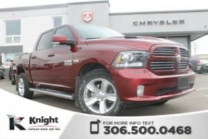 2016 Ram 1500 Sport - Navigation - Heated/Cooled Leather Seats