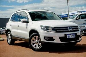 2012 Volkswagen Tiguan 5N MY13 132TSI Tiptronic 4MOTION Pacific White 6 Speed Sports Automatic Wagon Osborne Park Stirling Area Preview