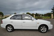 2000 Hyundai Accent LC GLS White 4 Speed Automatic Hatchback Enfield Port Adelaide Area Preview