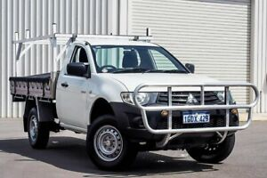 2012 Mitsubishi Triton MN MY12 GL 4x2 White 5 Speed Manual Cab Chassis Osborne Park Stirling Area Preview