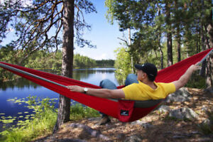 PREMIUM Outdoor Portable Double Camping Hammock - Hanging Bed