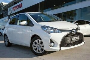 2016 Toyota Yaris NCP131R SX White 4 Speed Automatic Hatchback Baulkham Hills The Hills District Preview