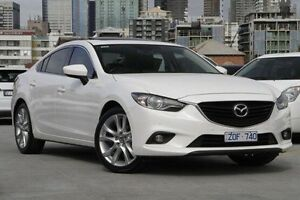 2013 Mazda 6 GJ1031 GT SKYACTIV-Drive White 6 Speed Sports Automatic Sedan North Melbourne Melbourne City Preview