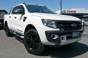 2014 Ford Ranger PX Wildtrak Double Cab White 6 Speed Sports Automatic Utility Keysborough Greater Dandenong Preview