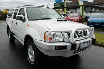 2009 Nissan Navara D22 MY2009 ST-R White 5 Speed Manual Utility West Footscray Maribyrnong Area Preview