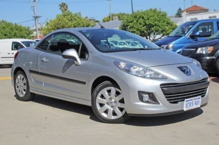 2010 Peugeot 207 A7 Series II MY10 CC Grey 4 Speed Sports Automatic Cabriolet Victoria Park Victoria Park Area Preview
