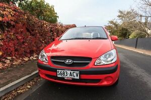 2009 Hyundai Getz TB MY09 S Red 5 Speed Manual Hatchback Hove Holdfast Bay Preview