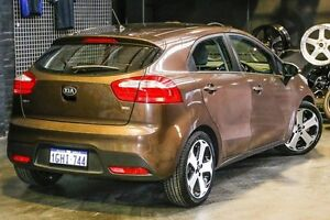 2013 Kia Rio UB MY13 S Brown 6 Speed Manual Hatchback Northbridge Perth City Area Preview