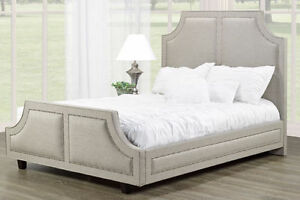 GORGEOUS UPHOLSTERED FABRIC HEADBOARD/BEDS ON SALE NOW